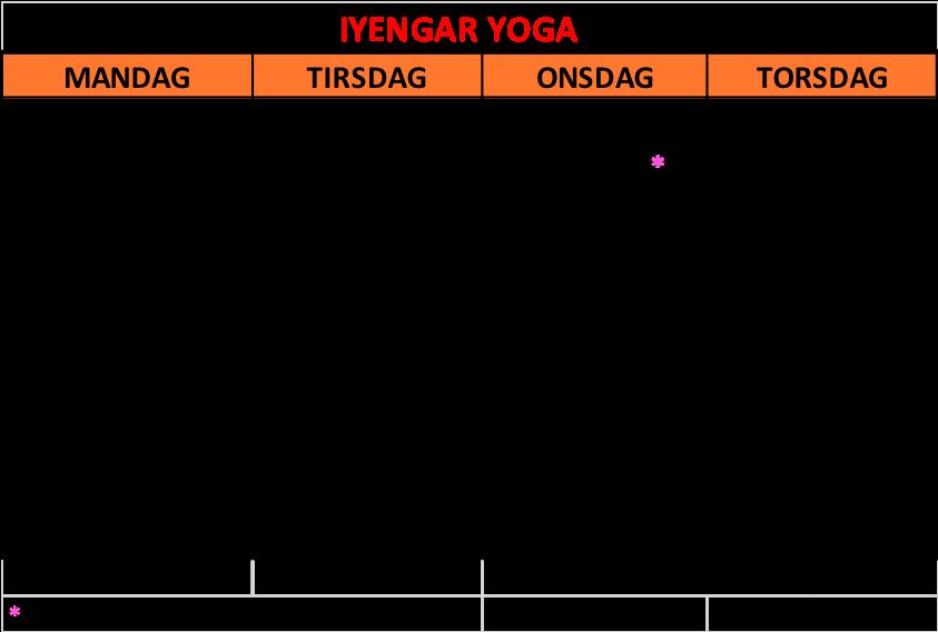 Yoga Trondheim Iyengar yoga